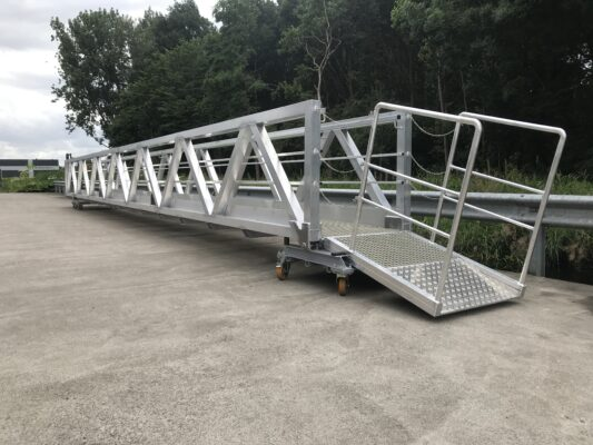 Truss style bridge for disabled persons